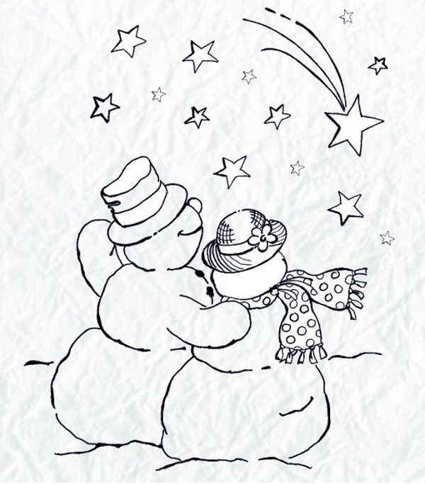 Clear Stamp - Snowmen Series - Shooting Star