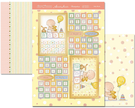 Ecstasy Crafts Special Occasions Individual Topper-Baby Blocks