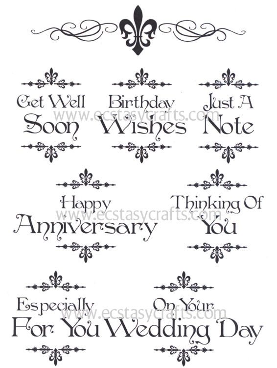 Creative Expressions Baroque Sentiments 2 - A5 Clear Stamp