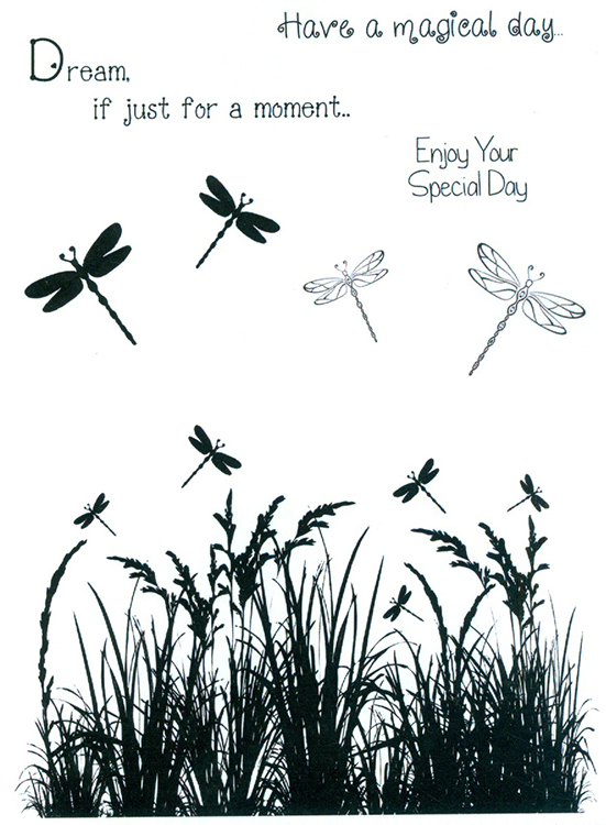 Sentimentally Yours  Clear Stamp - Dragon Fly Meadow