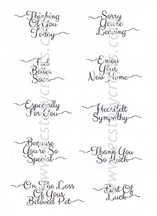 Creative Expressions Petite Scribbled Sentiments 'occasions' Clear Stamp Set