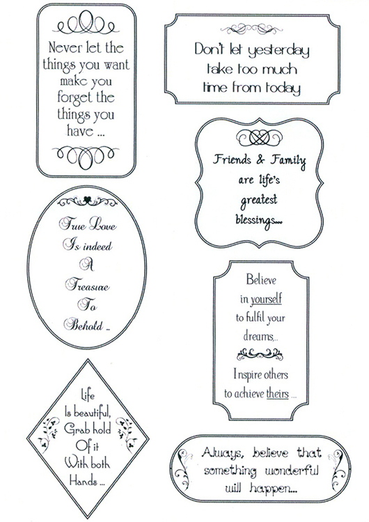 Creative Expressions Sentimentally Yours Clear Stamp - Words Of Inspiration