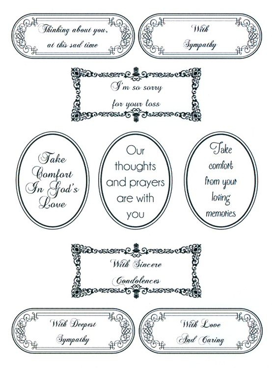 Creative Expressions Sentimentally Yours Clear Stamp - Words Of Sincerity