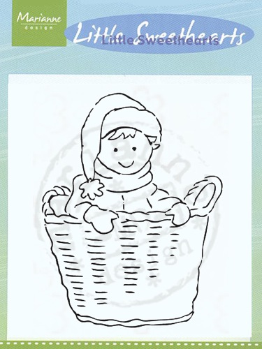 Ecstasy Crafts Clear Stamps - Little Sweetheart In Basket