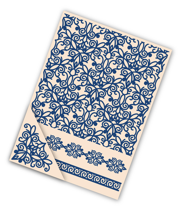 Embossing Folder Set - Fretwork Lace