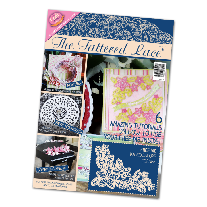 Ecstasy Crafts Tattered Lace Magazine #14 (includes Free Die)