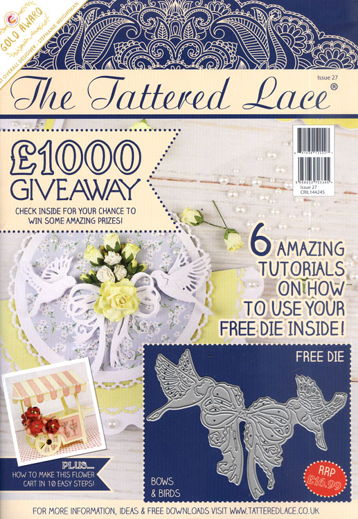 Tattered Lace Magazine #27 (includes Free Die)