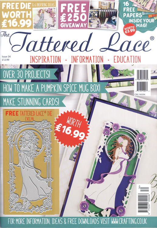 Ecstasy Crafts The Tattered Lace Magazine Issue 34 With Free Evelyn Die