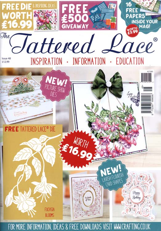 Ecstasy Crafts The Tattered Lace Magazine Issue #48 With Free Die