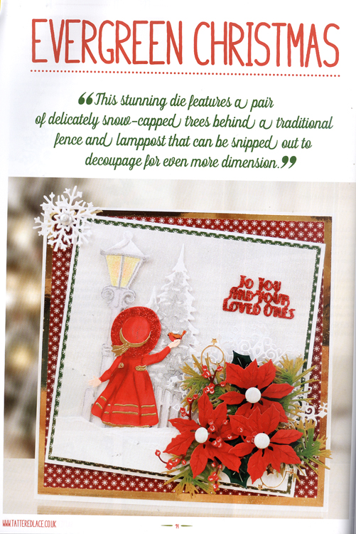 Tattered Lace Magazine The Christmas Special 2017 With Free Christmas Die