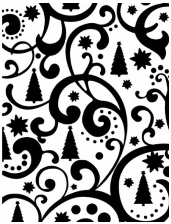 Ultimate Crafts Embossing Folder - Christmas Tree Flourish 4 X 6