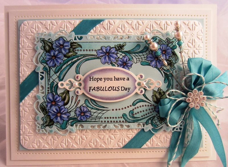 Cling Stamps - Floral Cartouche