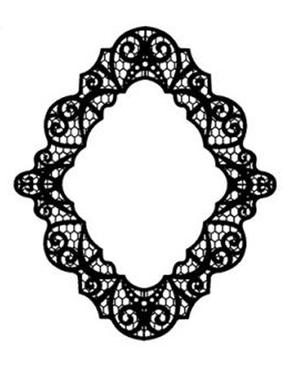 Creative Expressions Foam Mounted Cling Stamps - Pacific Lace