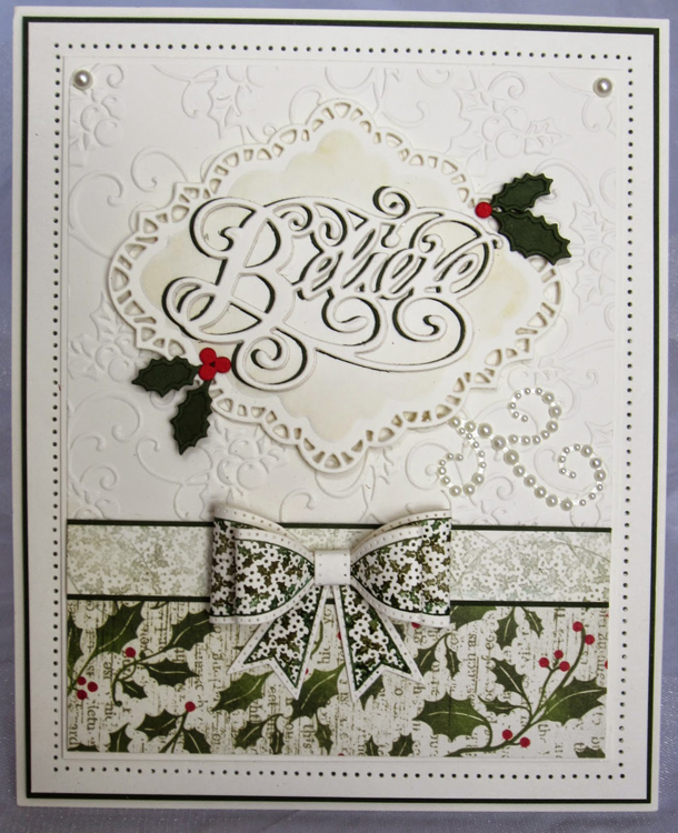Sue Wilson Stamps - Holly Bow