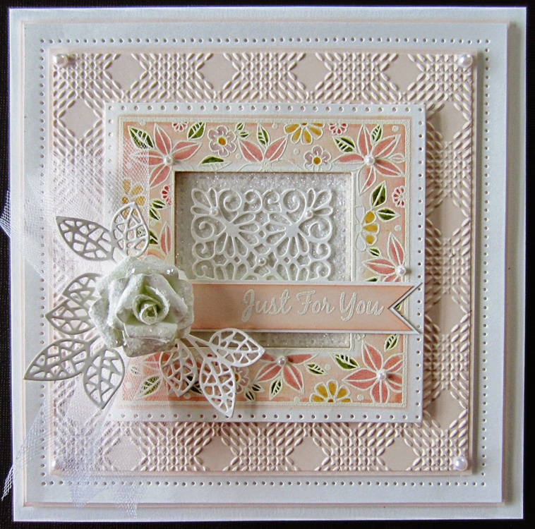 Ecstasy Crafts Foam Mounted Cling Stamps - Floral Doodle Square