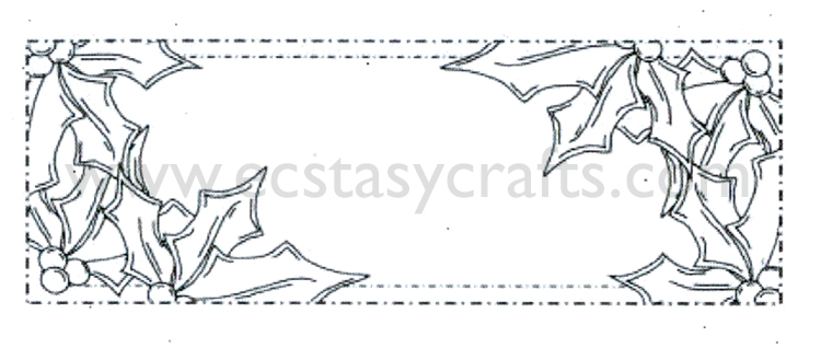 Ecstasy Crafts Ce Foam Stamps - Holly Corner