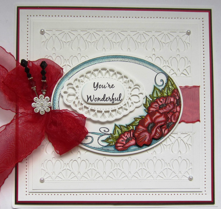 Ecstasy Crafts Creative Expressions Stamps - Poppy Daydreams