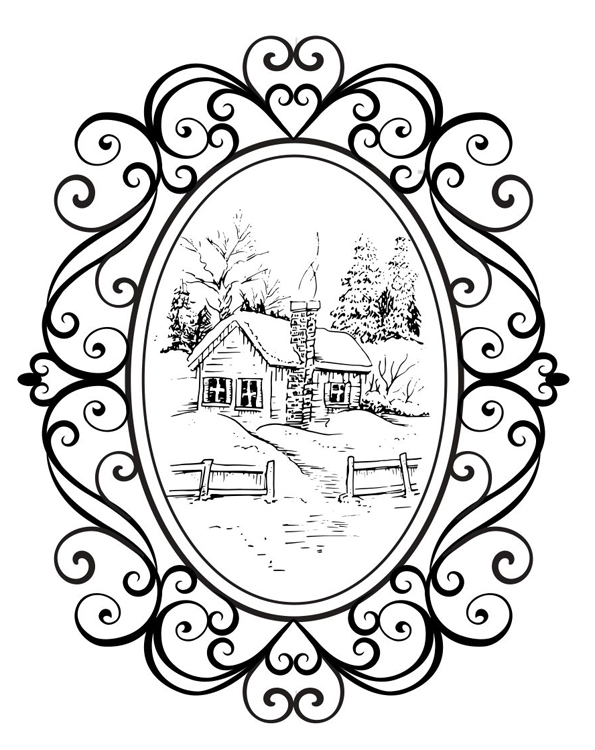Creative Expressions Stamps - Cosy Cottage