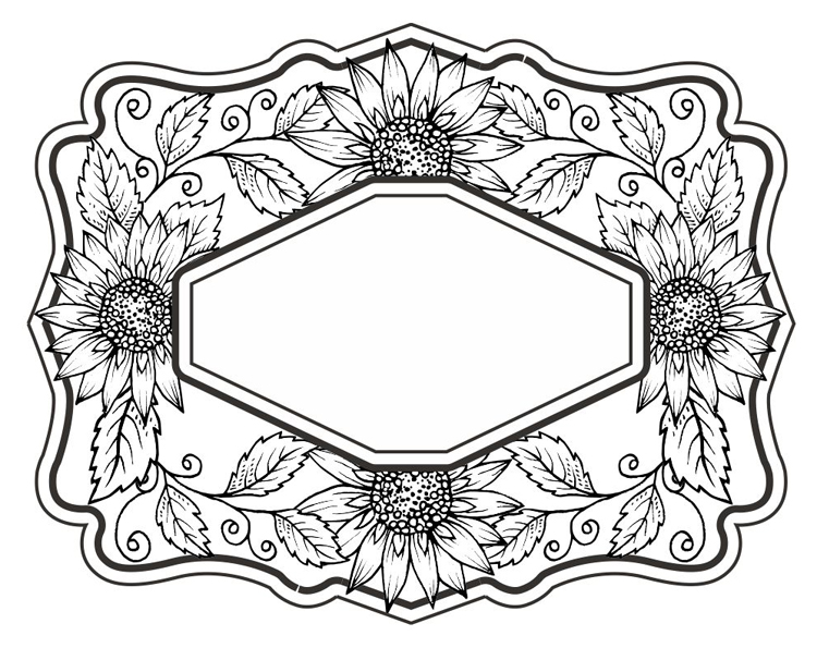 Creative Expressions Sue Wilson Cling Stamps - Sweet Sunflowers