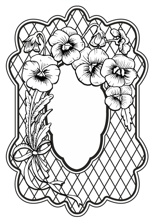 Creative Expressions Sue Wilson Cling Stamps - Tropical Pansies