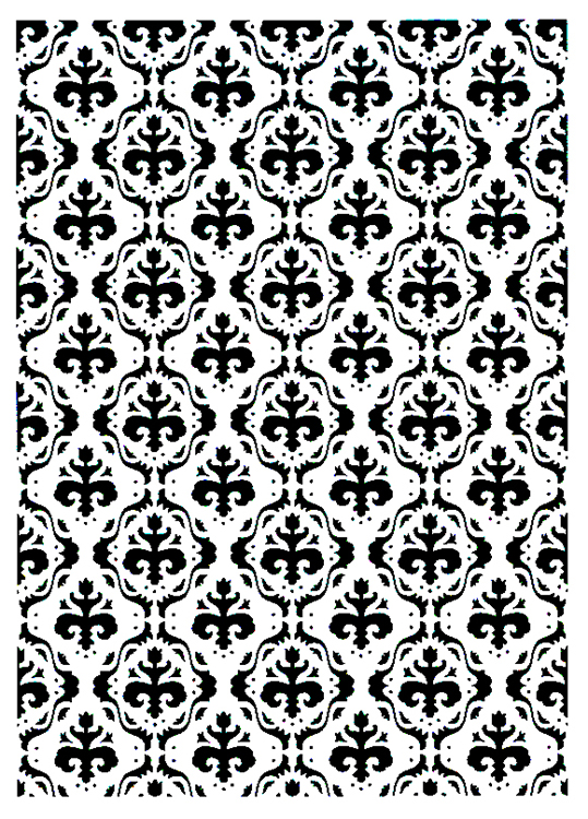Vintasia Embossing Folder - Baroc Pattern