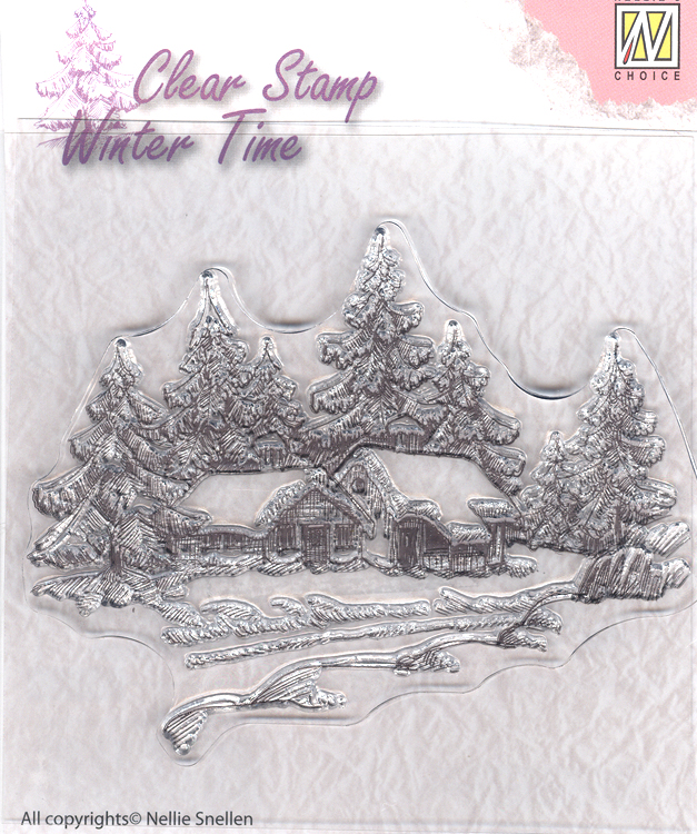 Nellie's Choice Clear Stamp - Winter Time - Wintery House