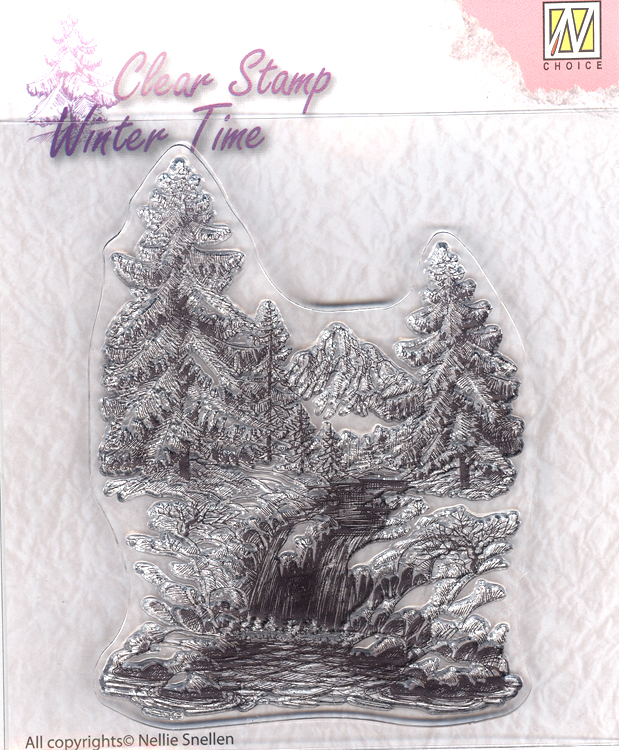 Nellie's Choice Clear Stamp - Winter Time - Winter Waterfall