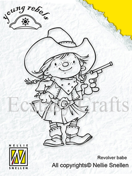 Clear Stamps - Young Rebels - Revolver Babe
