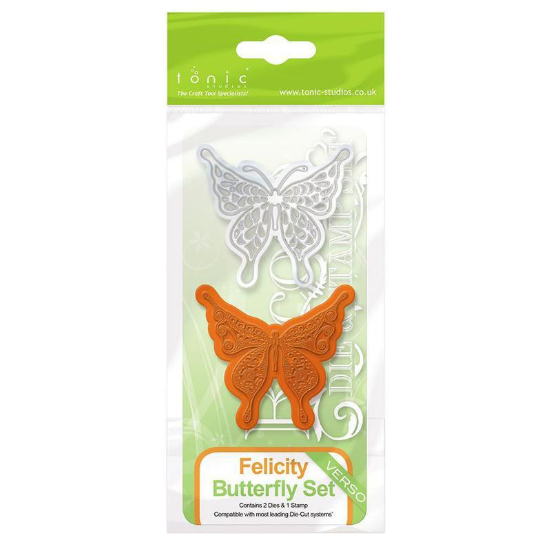 Rococo Die & Stamp Set - Butterfly Felicity - 1040E