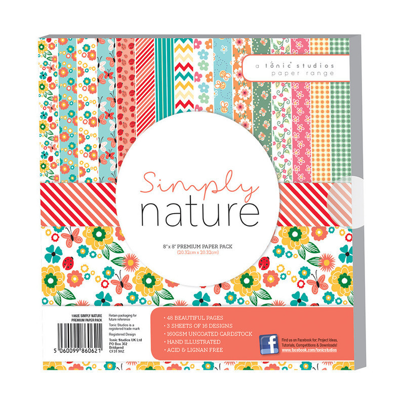 "8í""8 Premium Paper Pack - Simply Nature - 1062E"