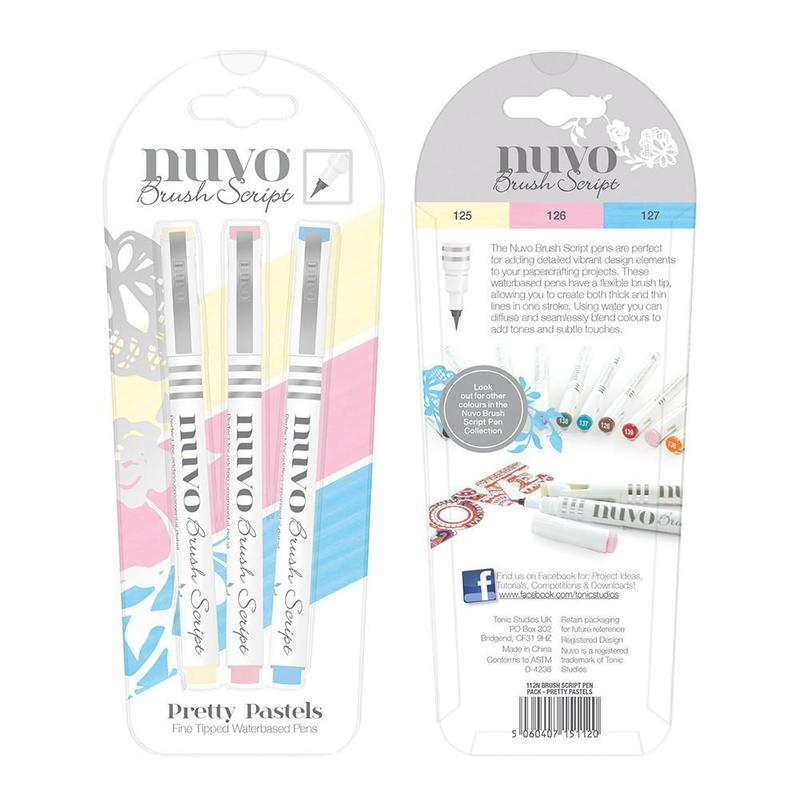 Brush Script Pens - Pretty Pastels - 112N