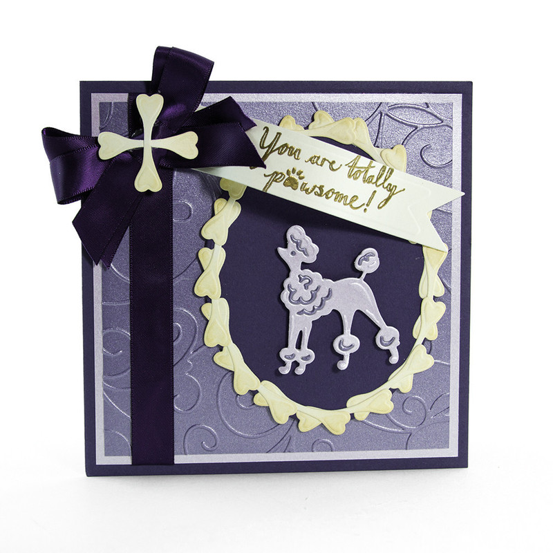 Rococo Petite Pampered Pets - Pawsome Poodle Die & Stamp Set - 1189E