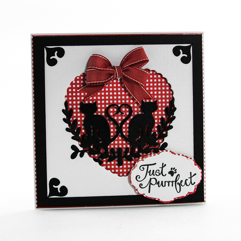 Rococo Petite Pampered Pets - Just Purrrfect Die & Stamp Set - 1190E