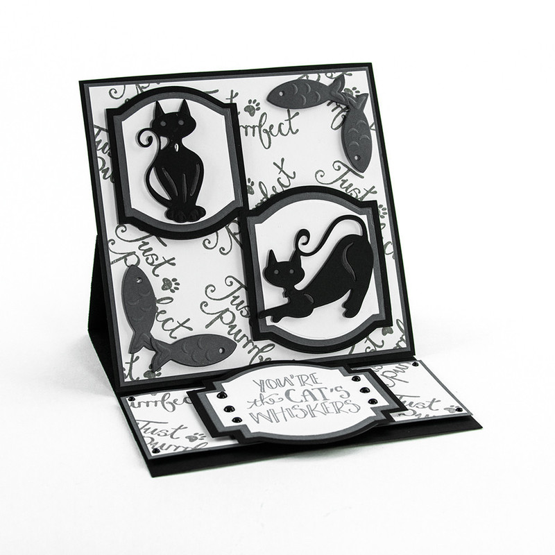 Rococo Petite Pampered Pets - Kitten's Whiskers Die & Stamp Set - 1192E