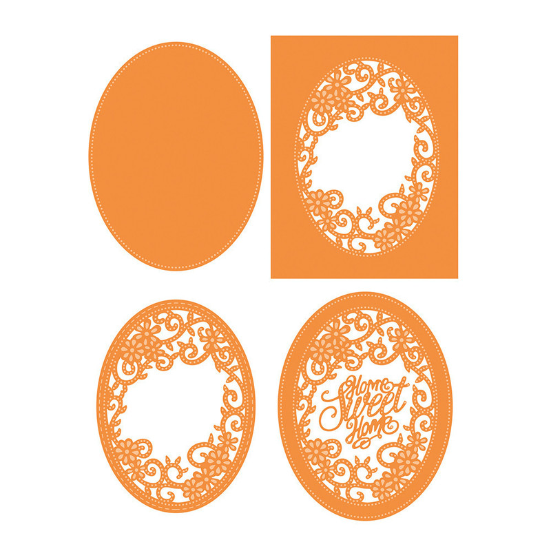 Sew Pretty - Home Sweet Home Oval Frame - 1226E