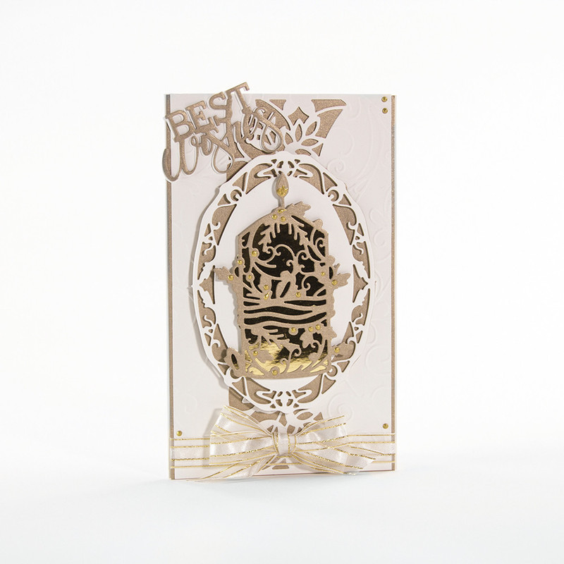 Faith Rococo Range - Decorate Candle - 1282E
