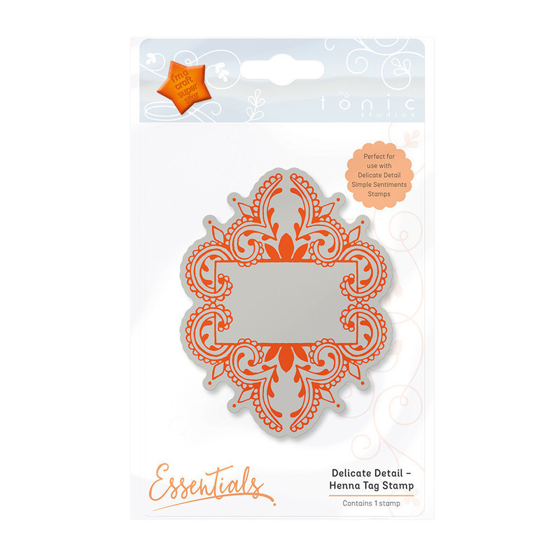 Essentials - Delicate Detail - Henna Tag Stamp - 1339E