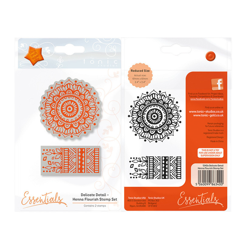 Essentials - Delicate Detail - Henna Flourish Stamp - 1340E