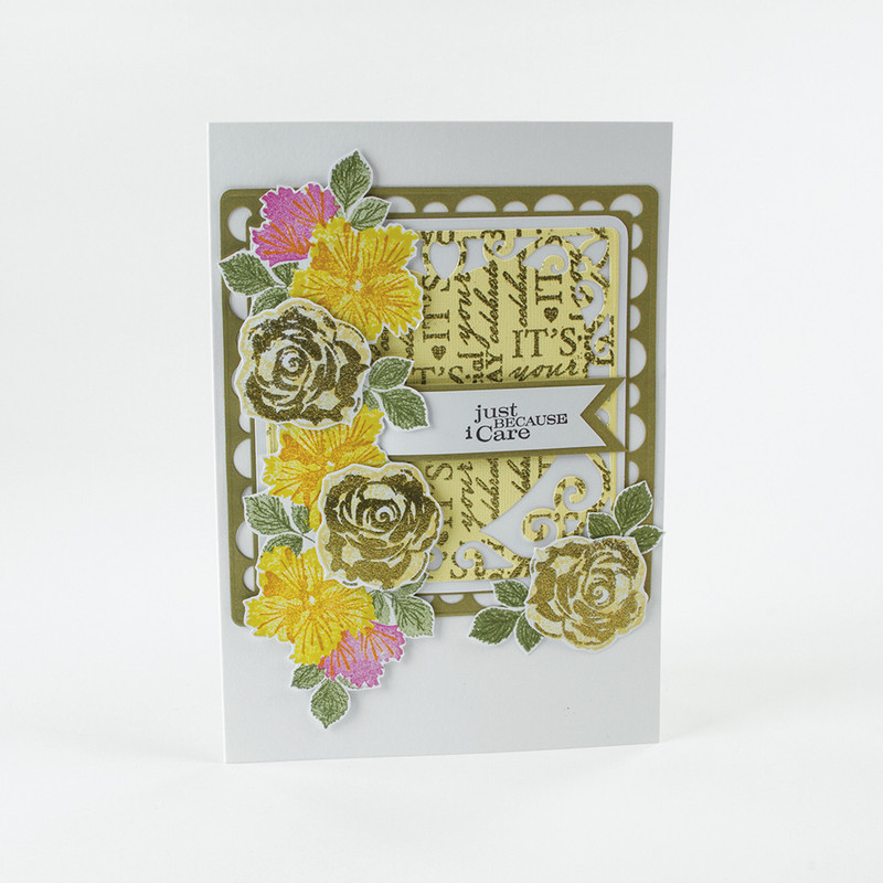 Bunched Bouquet - Traditional Spray Stamp Set 2 - 1361E