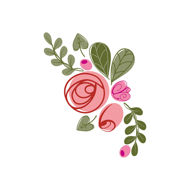 Bunched Bouquet - Modern Buttonhole Stamp Set - 1362E