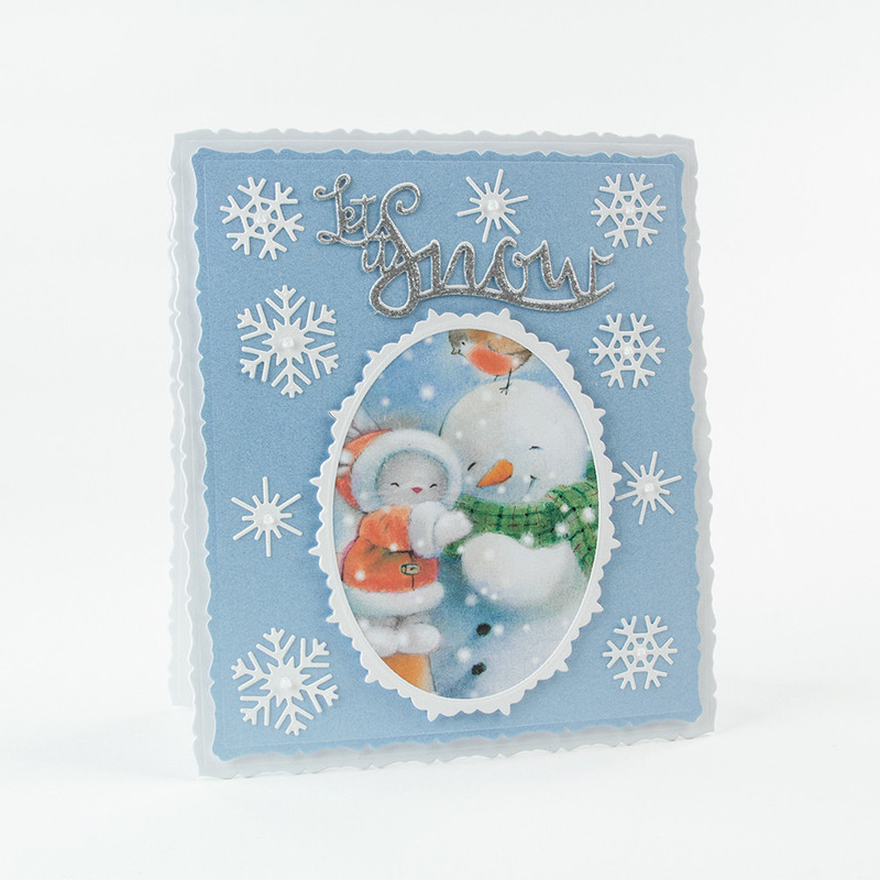 Christmas Sentiments - Let It Snow - 1403E