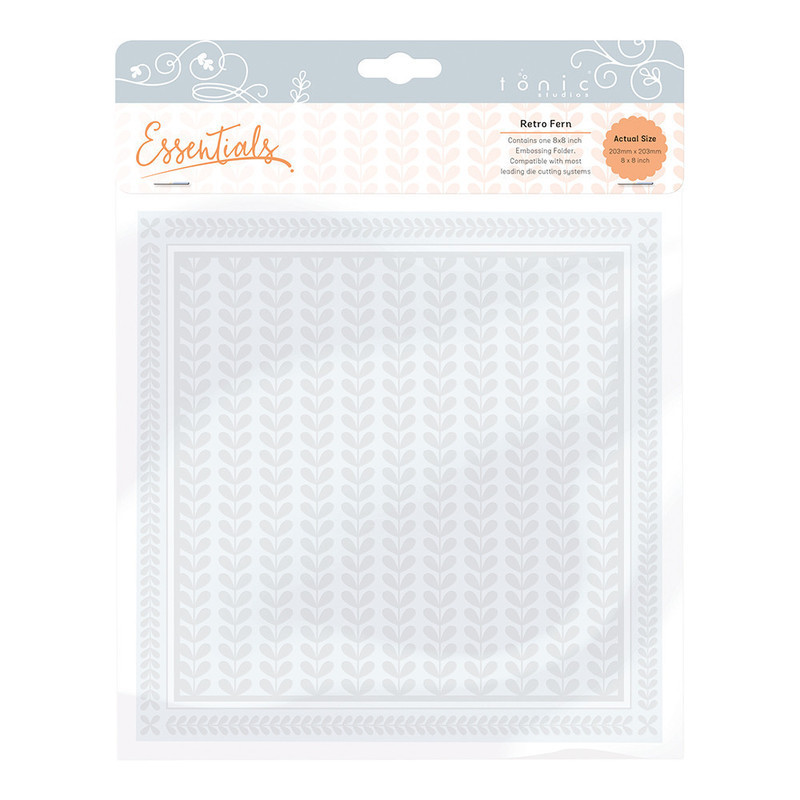 8x8 Embossing Folder - Layered Leaves - 1442E