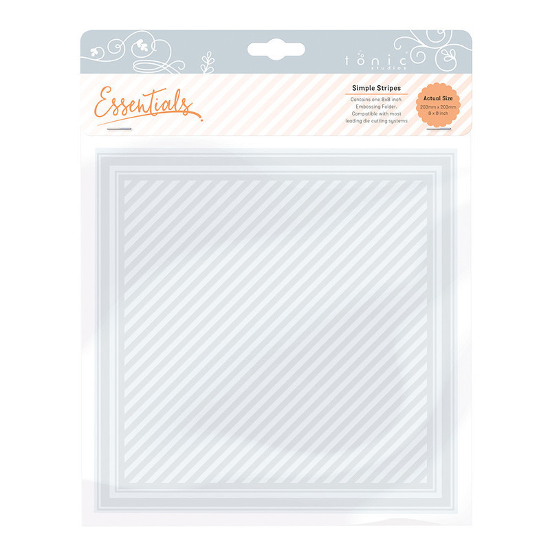 8x8 Embossing Folder - Simple Stripes - 1443E