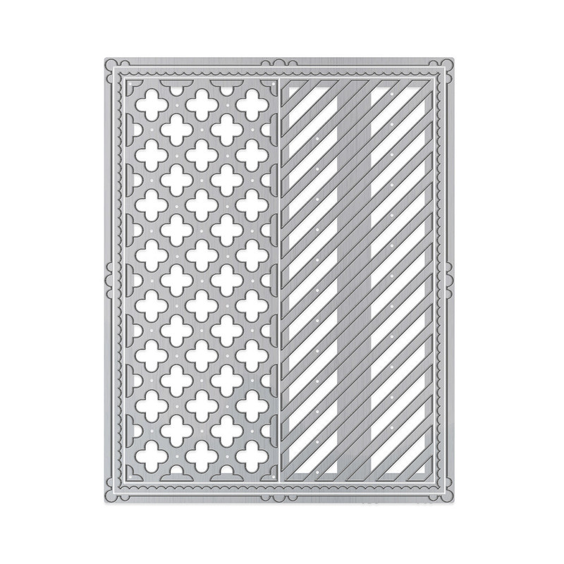 Framed Screens - Curved Crosses & Simple Stripes - 1444E
