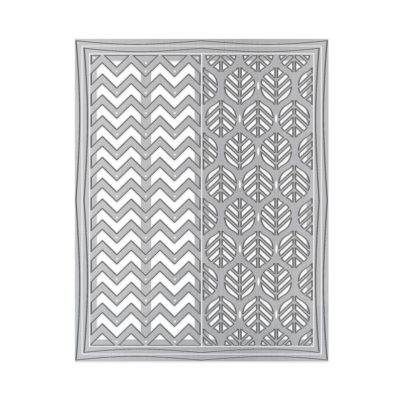 Framed Screens - Zig Zag & Floral Motif - 1446E