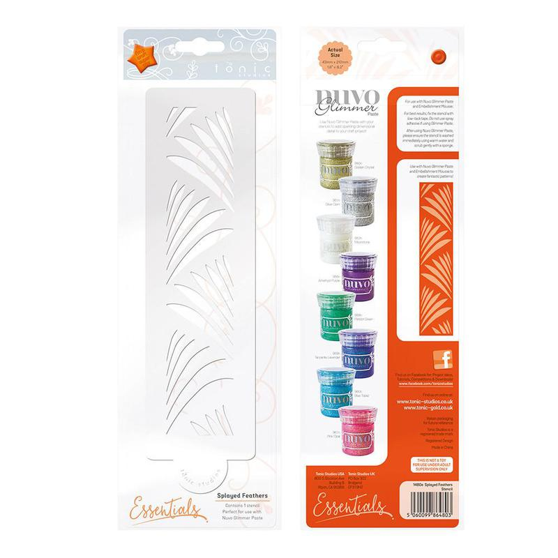 Essential Stencil - Splayed Feathers - 1480E
