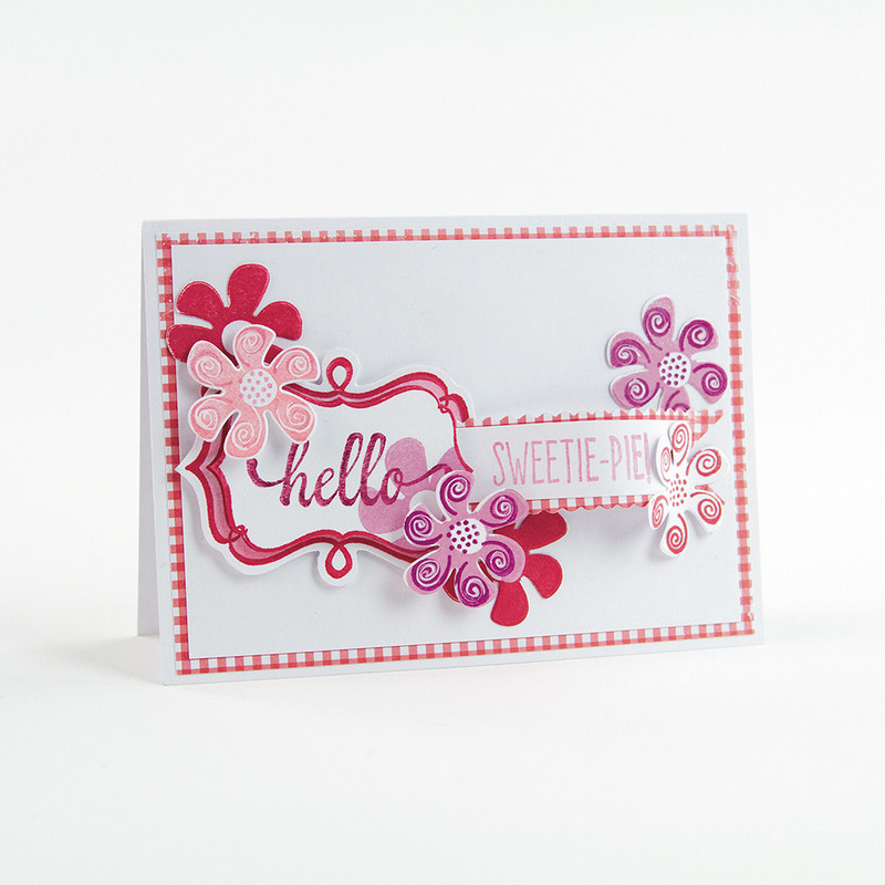 Tonic Studios - Whimsical Frame Stamp & Die Set, Hello Sweetie pie - 1530E