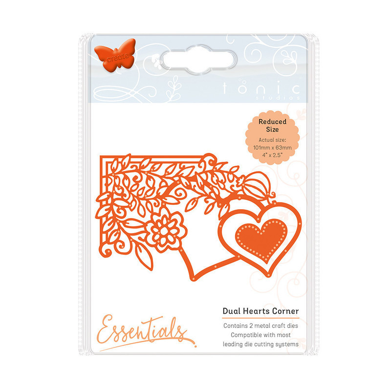 Fanciful Florals - Dual Hearts - 1538E