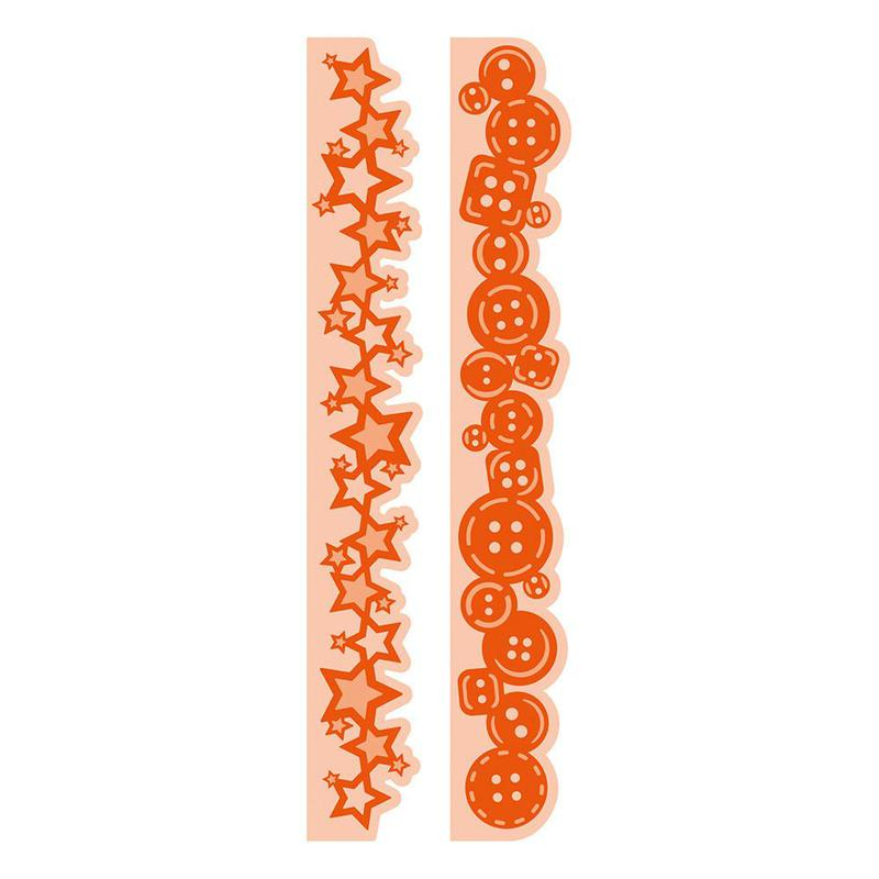 Essentials - Button & Star Strip Die Set - 1556E