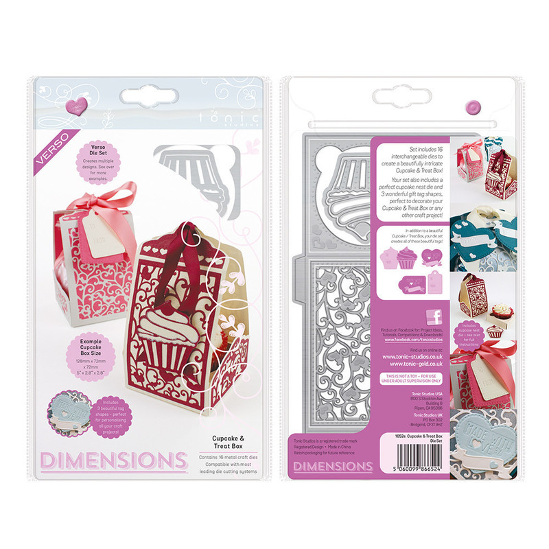Dimensions - Cupcake & Treat Box Die Set - 1652E